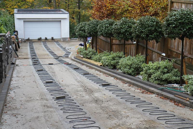 Block Paving heated driveway