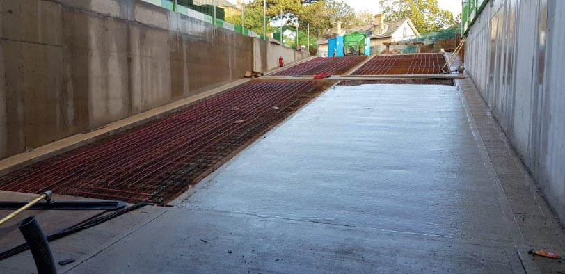 Commercial ramp heating