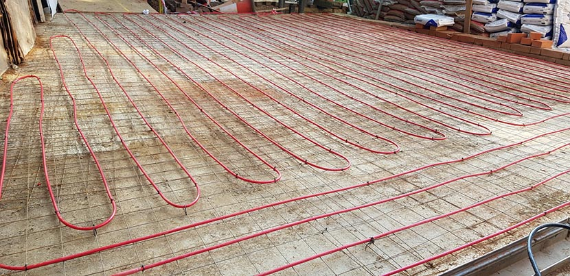 Driveway Heating cables concrete 1