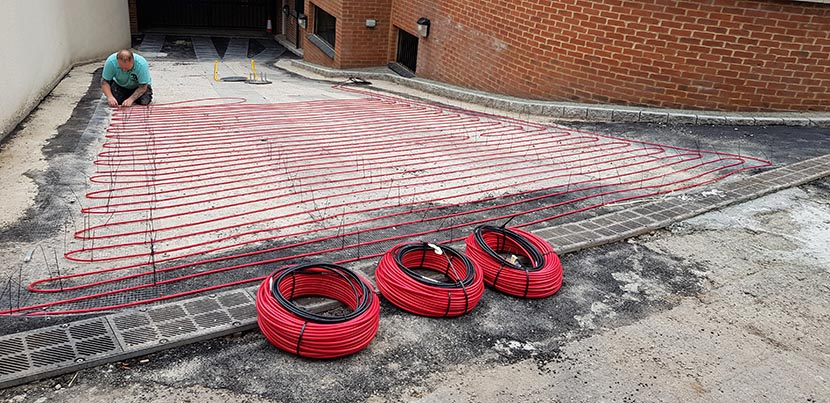 Driveway Heating cables solid base